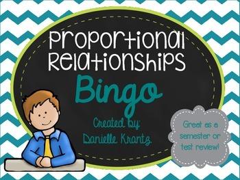 Proportional Relationships Bingo