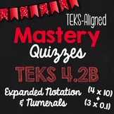 STAAR Prep Mastery Quizzes: Place Value & Expanded Notation {TEKS 4.2B}