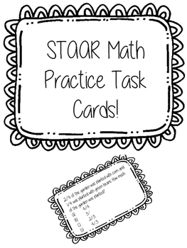 STAAR Prep Math Practice Task Cards (4th Grade)