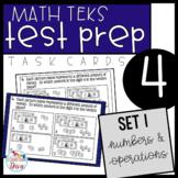 4th Grade Math TEKS Task Cards - Set 1