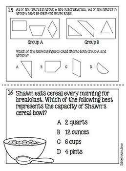 4th Grade Math TEKS Task Cards - Set 4