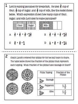 4th Grade Math TEKS Test Prep Task Cards - Set 2