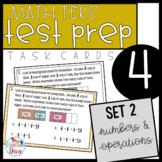 4th Grade Math TEKS Task Cards - Set 2