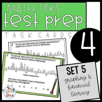 4th Grade STAAR Math Task Cards - Set 5