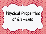 STAAR Prep- Physical Properties of Elements