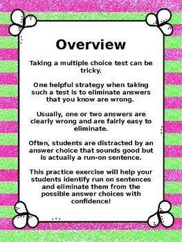 7th Grade STAAR Writing: Common Multiple Choice Answer Distraction: Run-Ons