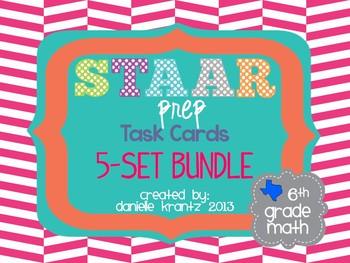 STAAR Prep Math Task Card BUNDLE - Grade 6