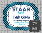 STAAR Prep Review Math Task Card BUNDLE - Grade 7