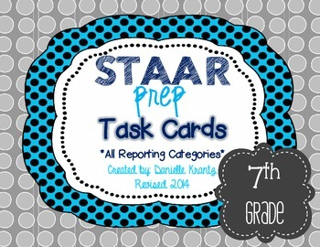 STAAR Prep Math Task Card BUNDLE - Grade 7
