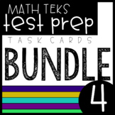 4th Grade Math Task Cards Bundle - TEKS Aligned