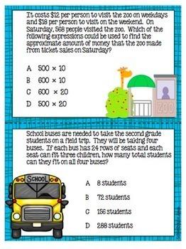 4th Grade Math TEKS Test Prep Task Cards - Set 3