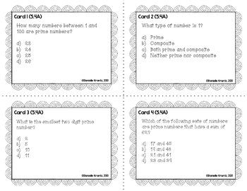 STAAR Prep Math Task Cards - Algebraic Reasoning - Grade 5