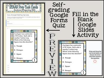 STAAR Prep Task Cards: New 4th Grade Texas Math TEKS