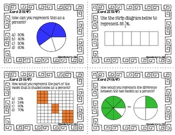 STAAR Prep Math Task Cards Proportionality - Grade 6