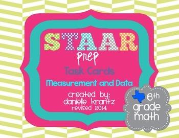 STAAR Prep Math Task Cards Measurement and Data - Grade 6
