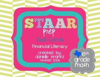 STAAR Prep Math Task Cards Financial Literacy - Grade 6