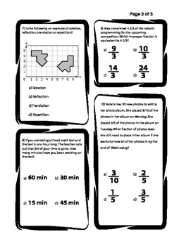 STAAR Prep Worksheet/Test