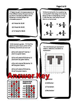 STAAR Prep Worksheet/Test