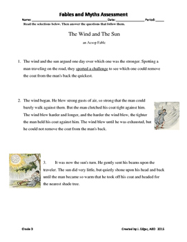 STAAR Prep _ Fables and Myths Grade 3 Assessment