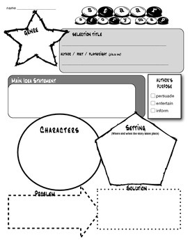 STAAR Primary Fill-In Practice Reading Skills Character Setting Author's Purpose