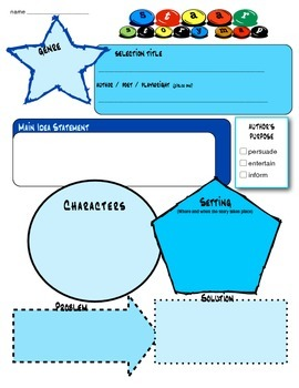 STAAR Primary Fill-In Practice Reading Skills Character Plot Story Map SALE!