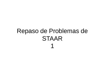 STAAR Problems Review1