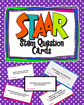 STAAR Question Stem Cards - UPDATED for 2018 releases!!!