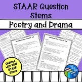 STAAR Reading Question Stem Cards - Poetry and Drama - Updated!