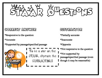 STAAR Questions Poster