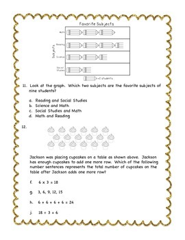 STAAR Quiz #1 - Third Grade Math