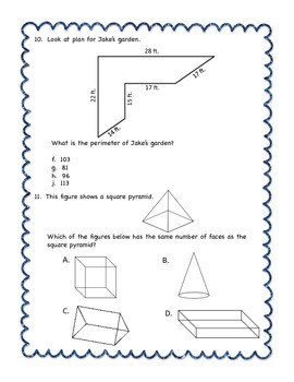 STAAR Quiz #2 - Third Grade Math