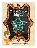 STAAR Quiz #3 - Third Grade Math