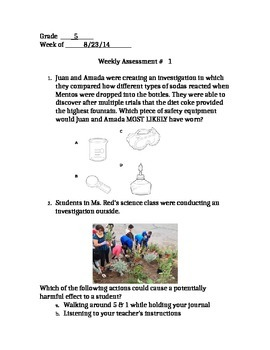 STAAR Quiz (5.1A Safety, 5.1B Conservation of Resources, 5.2A Experimental Desig