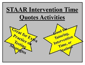 STAAR Quotes, Pictures, and Maps Practice and Intervention Bundle