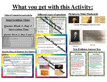 STAAR Quotes Practice and Intervention Activity