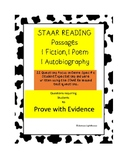 STAAR READING REVIEW:Genre Specific Passages Paired with STAAR QUESTIONS