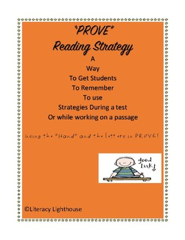 "STAAR READING: Reading STRATEGY ""PROVE"""