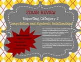 STAAR REVIEW BUNDLE: 7th Grade Math Reporting Category 2: Rates