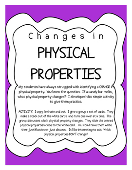 STAAR REVIEW - Changes in Physical Properties