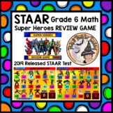 STAAR REVIEW GAME 6th grade Math 2019 Released TEST Interactive Powerpoint KEY