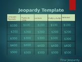 STAAR REVIEW Spanish Reading Jeopardy