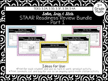 Spring Themed STAAR Readiness Review Bundle - Pt 1: 3.2A,