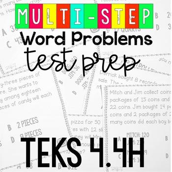 STAAR Readiness Test Prep Task Cards TEKS 4.4H