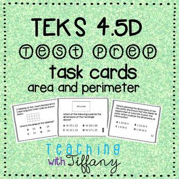 STAAR Readiness Test Prep Task Cards 4th NEW TEKS 4.5D