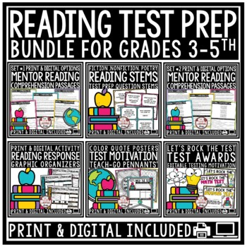 Reading Test Prep: Reading Comprehension Passages & Question 3rd Grade 4th Grade
