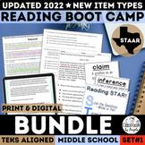 STAAR Reading Boot Camp Bundle   PDF & Digital   Distance
