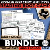 STAAR Reading Boot Camp Bundle | Test Prep | PDF & Google Forms | New TEKS