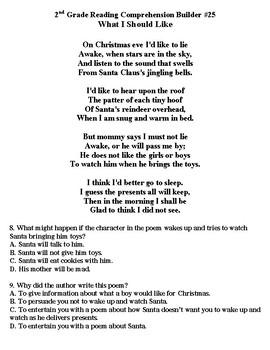 STAAR Reading Comprehension Builder (Christmas, Santa, Snowmen)