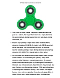 STAAR Reading Comprehension Builder (Fidget Spinners, Cats