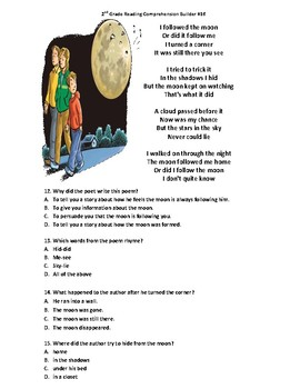 STAAR Reading Comprehension Builder (The Moon and Valentine's Day)